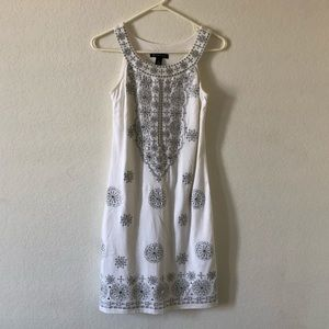 INC International Concepts White Sleeveless Dress